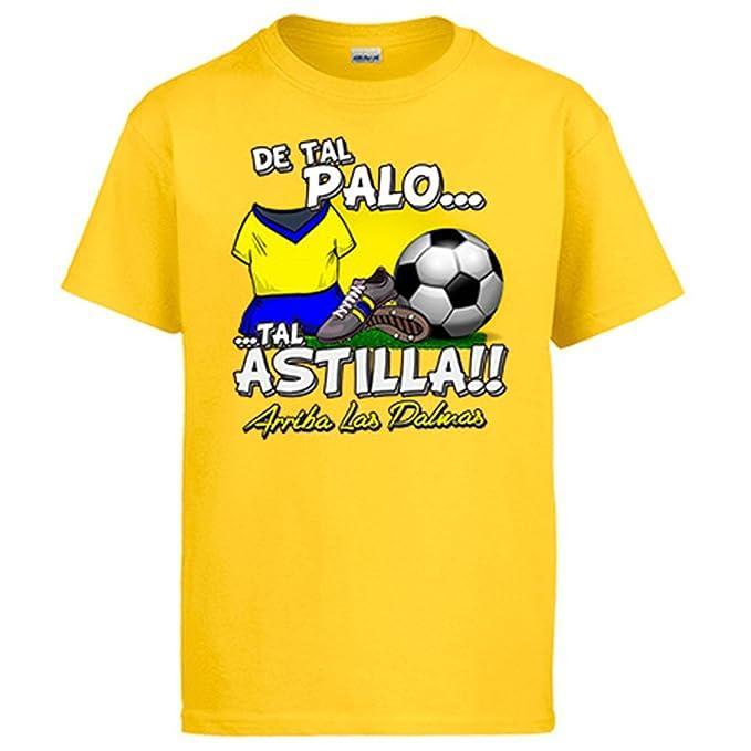 Camiseta De tal palo tal astilla Las Palmas fútbol: Amazon.es: Ropa y accesorios