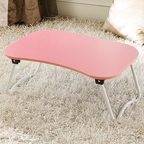 Jerry&Maggie - Laptop Desk Wood Round Edge Lapdesk Game Table - Foldable Portable on Bed Sofa Party Computer Play Table Lazy Personal Desk