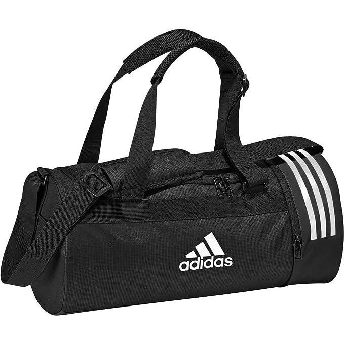 size 40 8f97d 2e7d6 adidas Convertible 3-Stripes Duffel Bag Small (Black, One Size)
