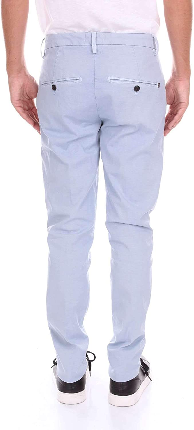 Dondup Luxury Fashion Mens Pants Summer Turquoise