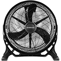 NEW WindStream 20 inch, High Velocity Floor Fan / Air Circulator Fan. Powerful 110 Watt Motor, 3490 cubic feet of air per minute, Quality UL Listed Certification.