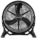 Windstream NEW 20 inch, High Velocity Floor Fan/Air Circulator Fan. Powerful 110 Watt Motor, 3490 cubic feet of air per minute, Quality UL Listed Certification.