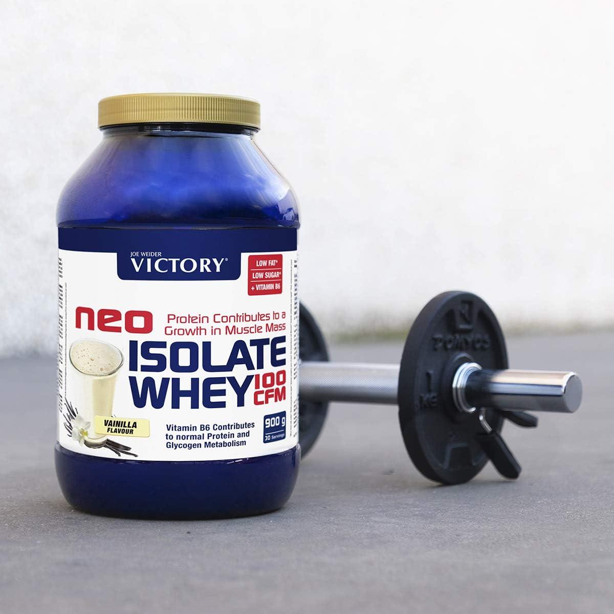 Neo Iso Whey 100CFM 900gr Vainilla. 100% aislado de proteina de suero. Sin grasas. Para dietas keto.