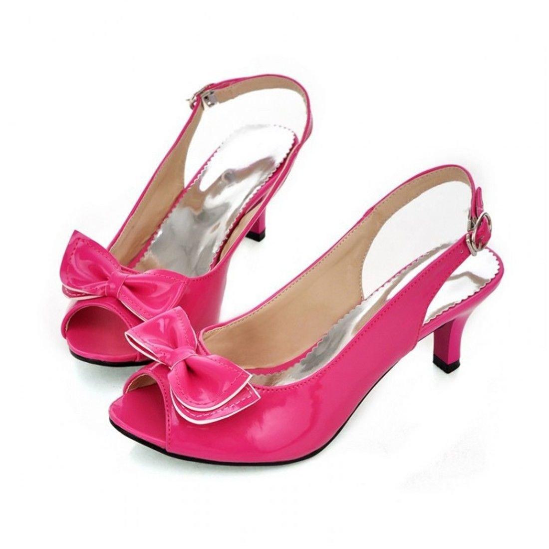 Femme Sandales/Bout Ouvert/Spartiates Femme/Bout Fermé/Monsieur Cuir Peint, avec Papillon Women's Chaussures Sandales Grand Code