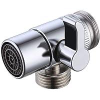 KES Mässingsavledare för kök eller badrum, handfat, kran, ersättningsdel M22 X M24, polerad krom, PV10