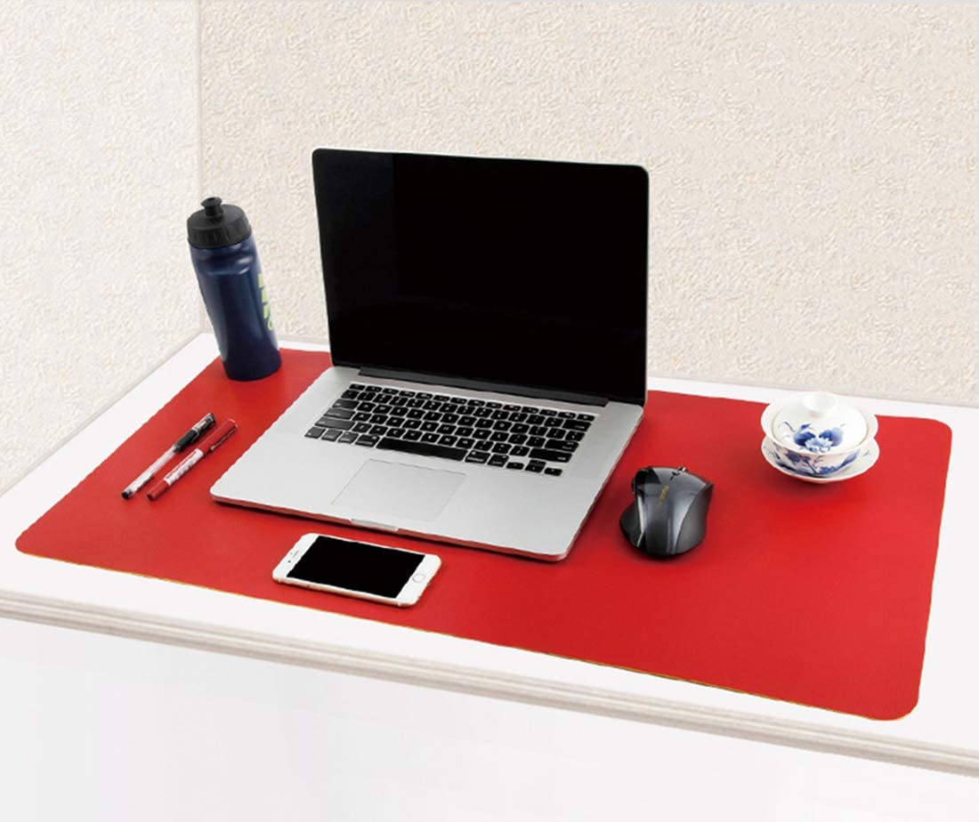 PU Leather Mouse Pad Mat Waterproof Perfect Double Side Desk Writing Mat for Office and Home SJASD Multifunctional Office Desk Pad Ultra Thin 2mm,Red,120x60cm
