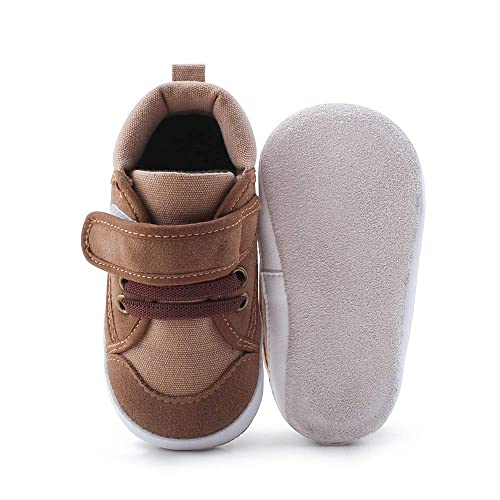 53e9cc62d390f Delebao Baby Boys Girls First Walkers Hook & Loop Running Shoes