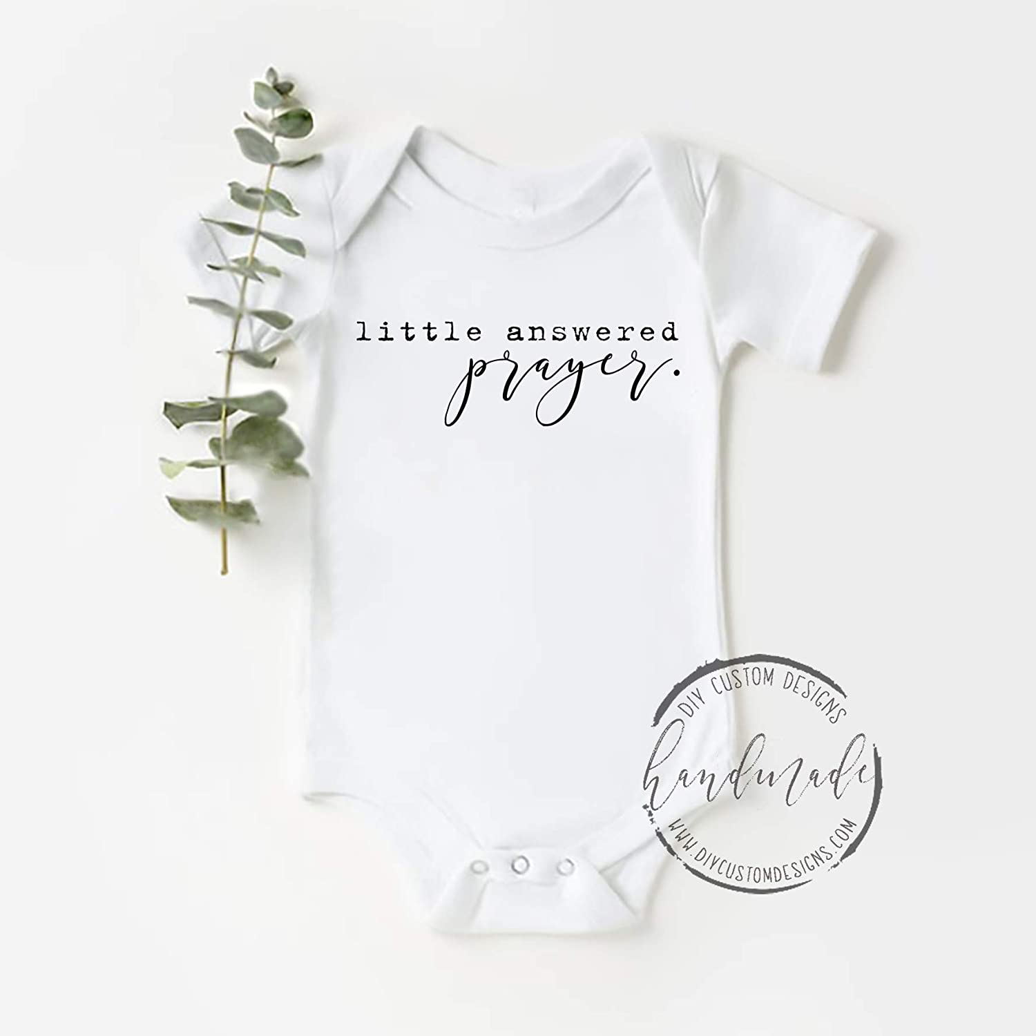 Little Answered Prayer Baby onesie New Baby gift Baby Shower gift Coming home outfit Baby outfit Custom Baby Onesie Custom Onesie
