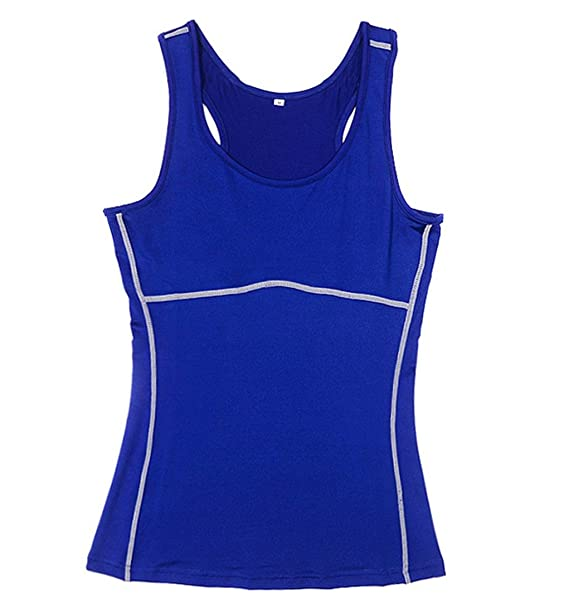 QIYUN.Z Damen Basisschicht Strumpfhosen Weste Ärmellos Kompression Shirt  Sportunterwäsche Sportunterhemden  Amazon.de  Bekleidung b1ab769738