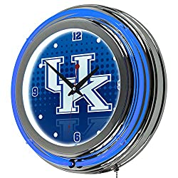Trademark Gameroom University of Kentucky Chrome Double Rung Neon Clock - Reflection