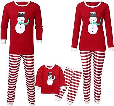 Pijamas Familiares de Navidad, Estampado de Muñeco de Nieve ...