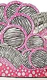 Pink Zebra Party Supply Pack 79 Piece - Buffet Dinner Plates - Desert Plates - Beverage Napkins - Buffet Napkins - Table Cloth by Greenbrier International