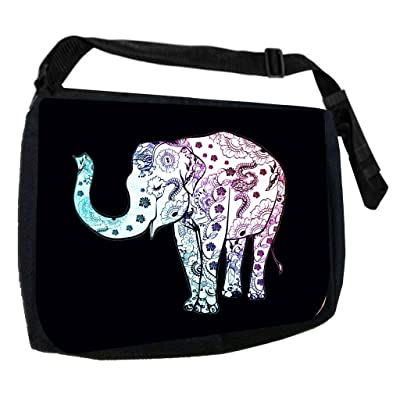 Pattern Filled Elephant-TM School Messenger Bag