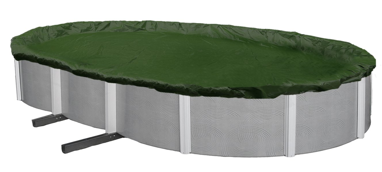 Blue Wave Silver 12-Year 15-ft x 30-ft Oval Above Ground Pool Winter Cover by Blue Wave