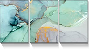 Looife 3 Panels Abstract Canvas Wall Art, 3 Pieces 18x24 Inch Colorful Marble Stone Texture Picture Prints Artwork Wall Decor, Gallery Wrapped Triptych Home Deco Set for Bedroom, Living Room