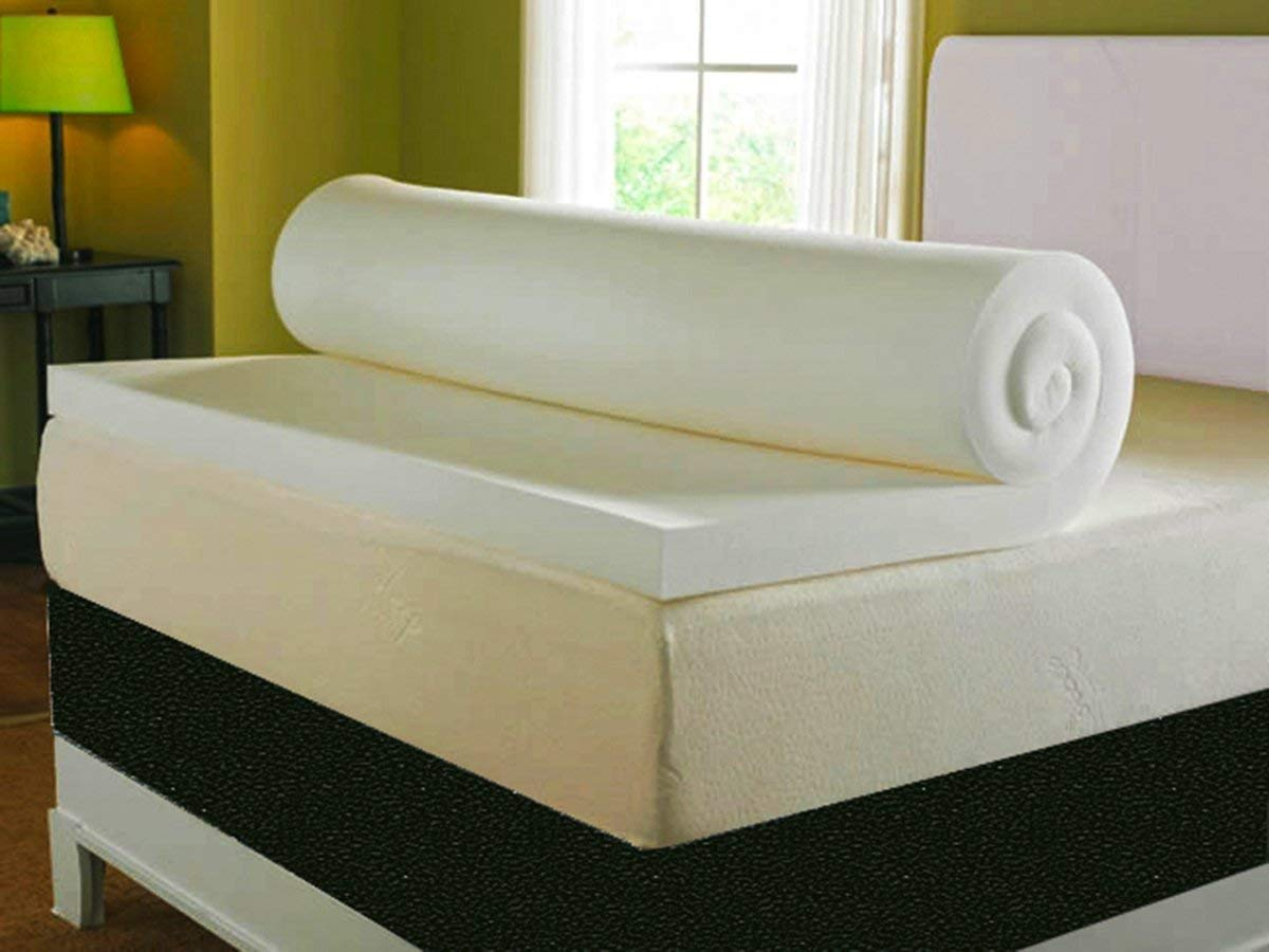 bedzonline 2FT6 3FT 4FT SMALL 4FT6 5FT AND 6FT MEMORY FOAM TOPPERS AVAILABLE IN 2'' 3'' AND 4'' (3'' 3FT SINGLE MEMORY FOAM TOPPER)