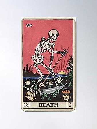 Skeleton Major Spooky Vintage Tarot Creepy Death Halloween Arcana Regalo para la decoración del hogar Wall Art Print Poster 11.7 x 16.5 inch: Amazon.es: Bricolaje y herramientas