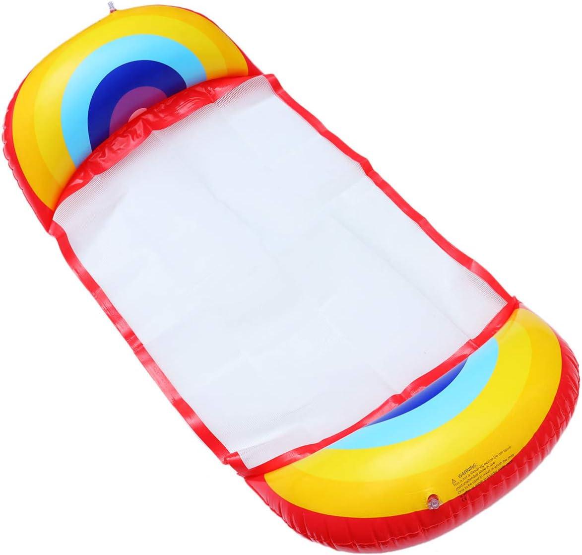 None 1 Pc Polyvalent Hamac Deau Piscine Flottant Portable Mat Hamac pour Piscine pour Adultes Plage D/étente Bain de Soleil Piscine F/ête