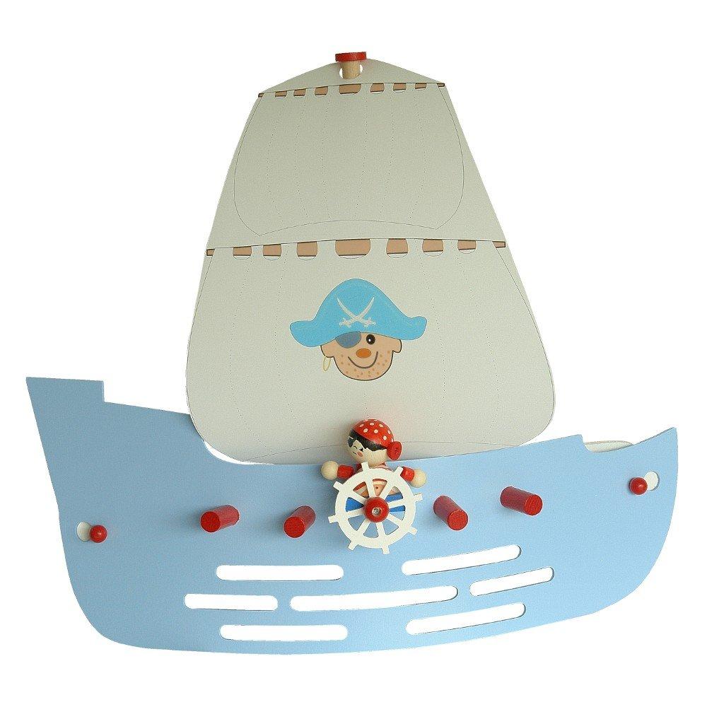 Elobra Kinder Lampe Wandlampe Piratenschiff Wandleuchte Kinderzimmer Holz,  Dunkelblau 125793: Amazon.de: Beleuchtung