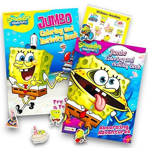 Spongebob SquarePants Coloring and Activity Book Set with Stickers (2 -