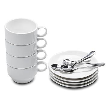 amazon aozita espresso cups with espresso spoons and saucers 12