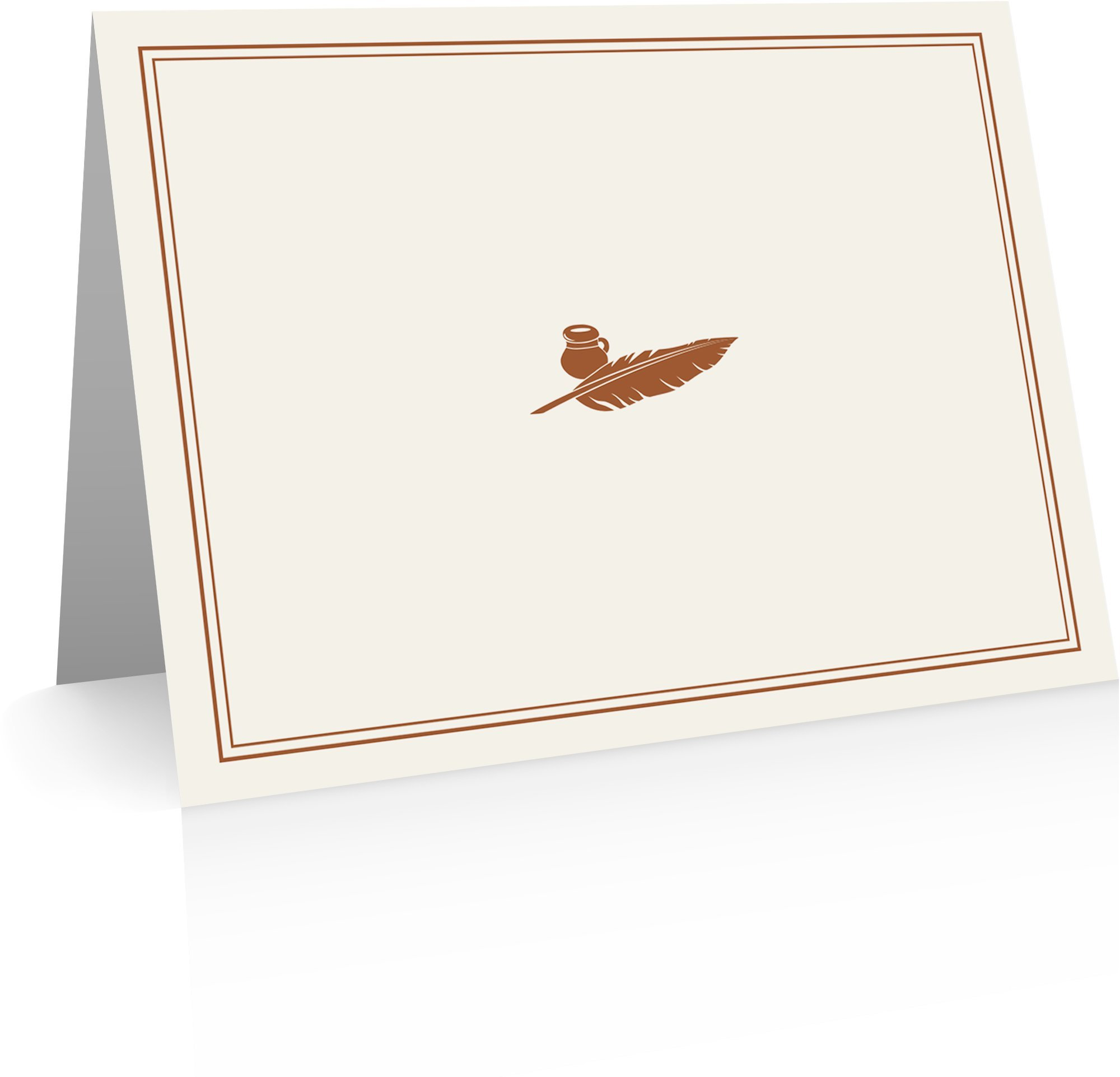 Quill Pen Stationery (24 Fold-over Cards and Envelopes) Quill Pen Notecards