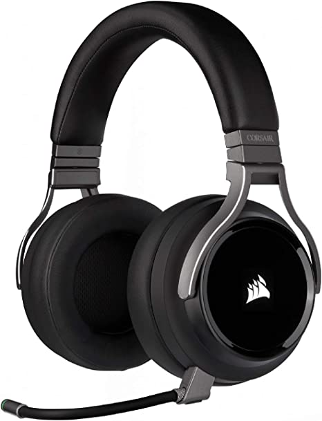 Amazon Com Corsair Virtuoso Rgb Wireless Gaming Headset High Fidelity 7 1 Surround Sound Memory Foam Earcups 20 Hour Battery Life Carbon Computers Accessories
