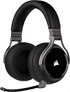 Corsair Virtuoso RGB Wireless Gaming Headset - High-Fidelity 7.1 Surround Sound w/Broadcast Quality Microphone - Memory Foam Earcups - 20 Hour Battery Life - Works with PC, PS5, PS4, Xbox One– Carbon