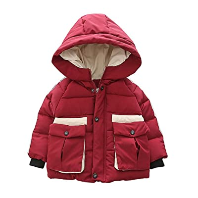For 1-6 Years old Kids,DIGOOD Baby Boys Fashion Zipper Hooded Coat Winter Keep Warm Outwear Thick Jacket Clothes
