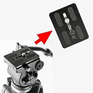 MonkeyJack Quick Release Plate for Weifeng Video Tripod Head 717 EI-717A//717AH Camera Black