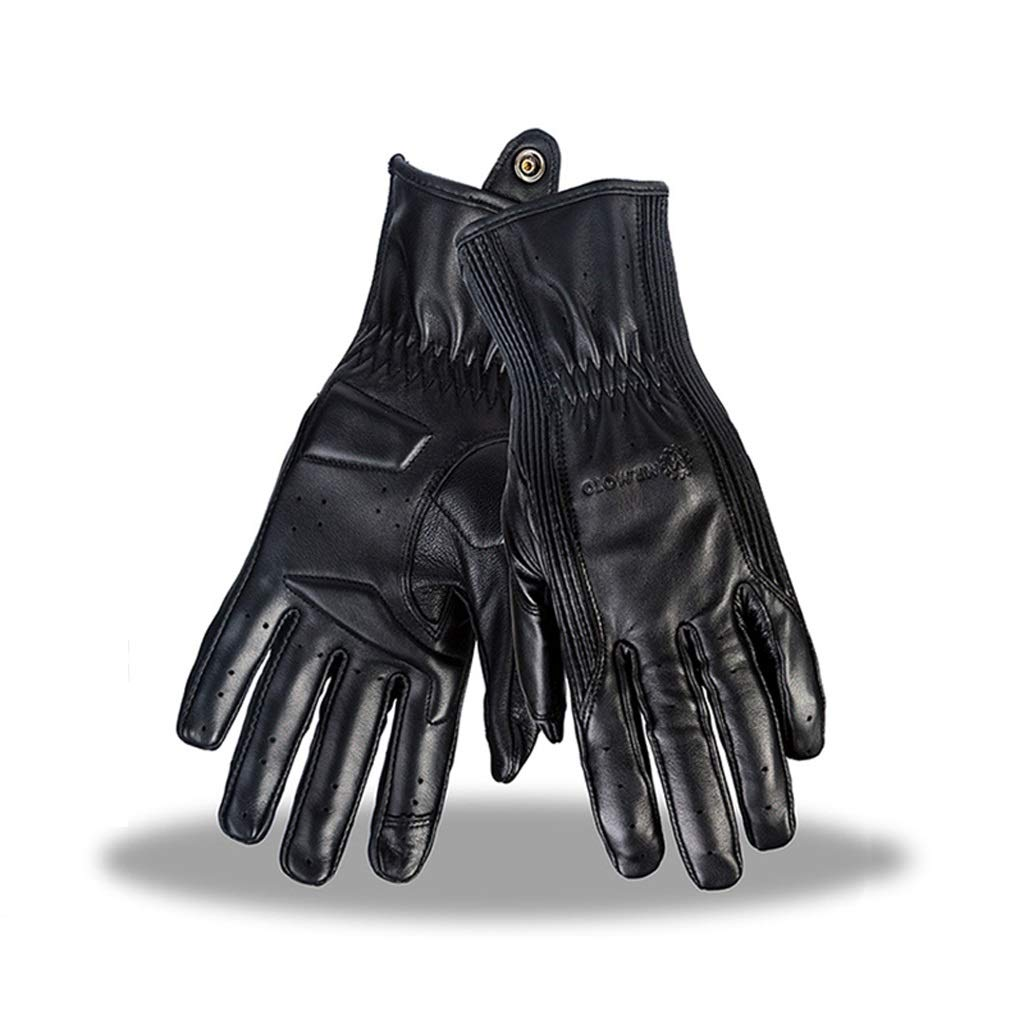 HU Touchscreen Lederhandschuhe Motorrad Reiten Atmungsaktiv Winddicht Warm Memory Rebound Retro Handschuhe