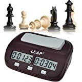 Ckeyin ® Mini Compact Travel Digital Multifunctional Display Chess Clock Count Up Down Timer Competition Game Clock Pro