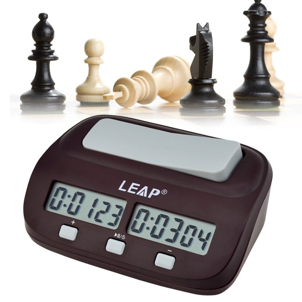 Ckeyin ® Mini Compact Travel Digital Multifunctional Display Chess Clock Count Up Down Timer Competition Game Clock Pro QZ-003