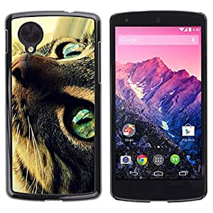 Hot Style Cell Phone PC Hard Case Cover // M00100578 cat eyes the animals // LG Nexus 5