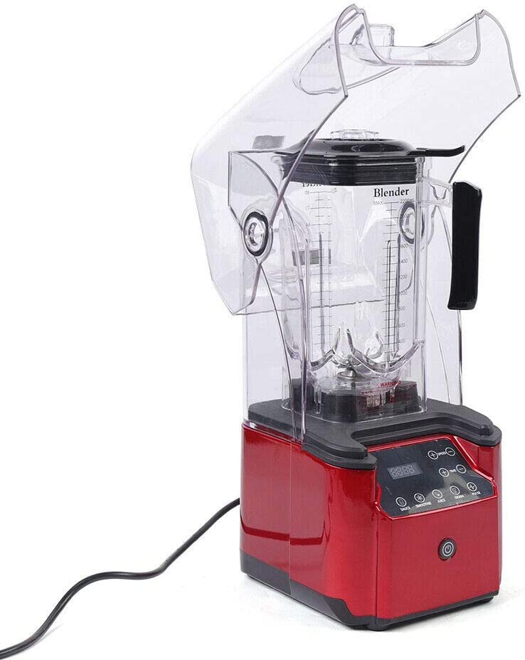 Commercial Blender, 2200W 2.2L Professional Touch Blender Sound-proof Safety Cover Juicer Smart Smoothie Maker Mixer