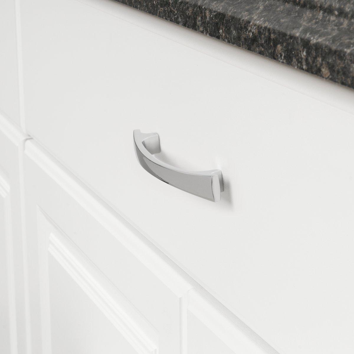 espacement des trous de 12,7 cm Chrome poli modernes et arrondies Longueur/: 16,51 cm Basics Lot de 10 poign/ées de placard /épaisses