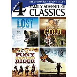 Family Adventure Classics (Lost in the Barrens / Baker's Hawk / Rugged Gold / Pony Express Rider)