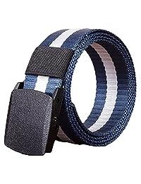 Susenstone Belt Fashion Unisex Automatic Nylon Belt Buckle Canvas Belt,Blue