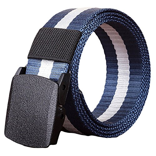 Practical Belts,Fashion Man Women Automatic Nylon Belt Buckle Military Fans Tactical Canvas Belt, Perfect Belts, Men's Fashion, (Fan Belt Buckle)