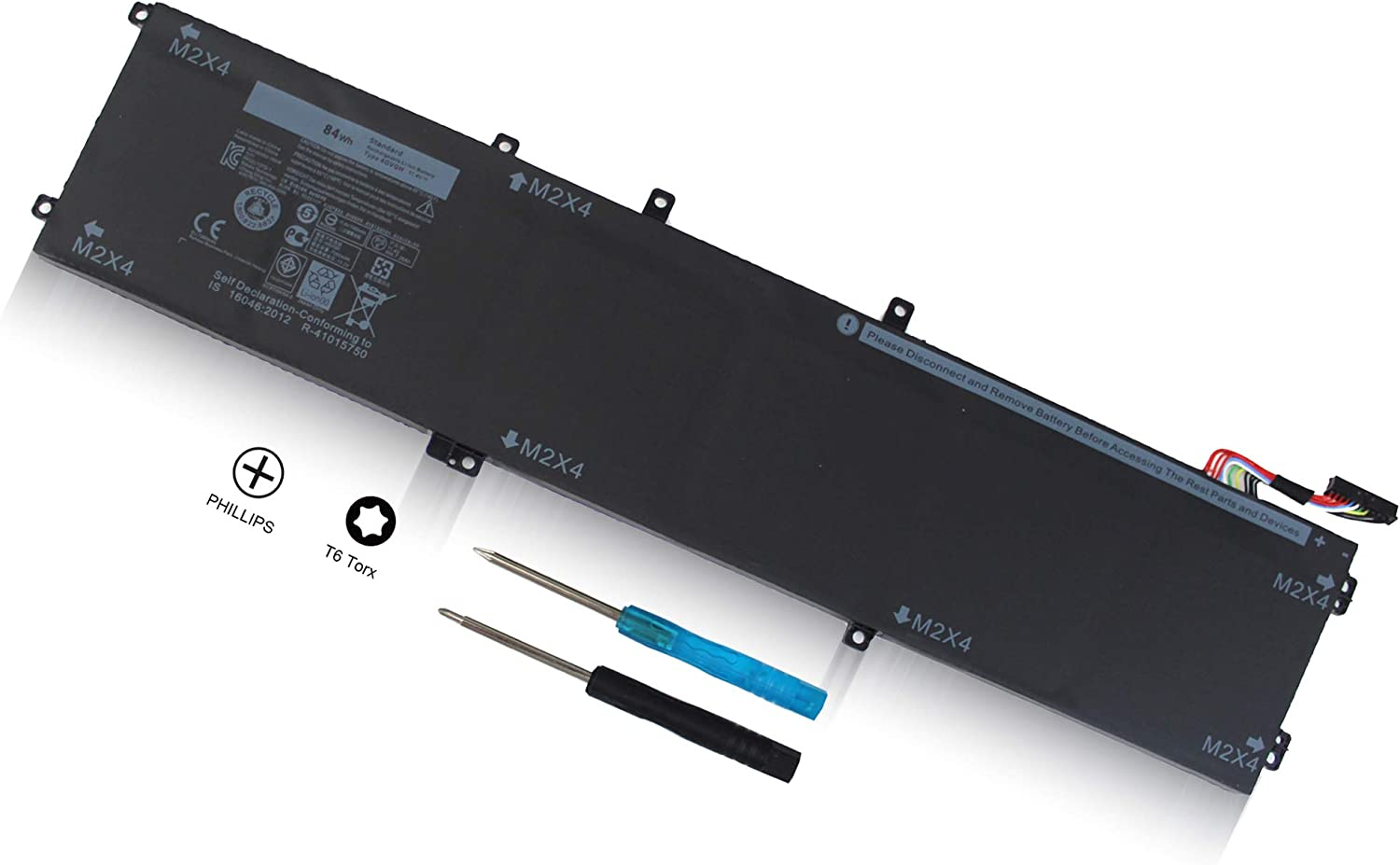 New 4GVGH (11.4V 84Wh) Laptop Battery Compatible with DELL XPS 15 9550 1P6KD 01P6KD 4GVGH T453X 0T453X P56F T453X 062MJV M7R96 451-BBUX