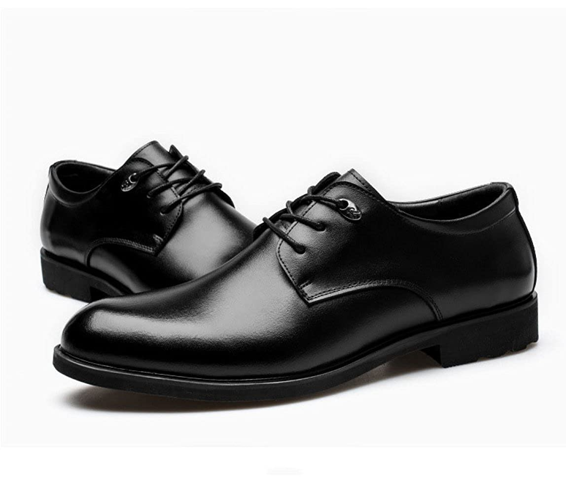 Schwarze Lederschuhe Für Männer Derby Hochzeit Formelle Lace-up Herren Business Schuhe Formelle Hochzeit Kleidung Herrenschuhe Klassische Runde Kopf schwarz b1deb9
