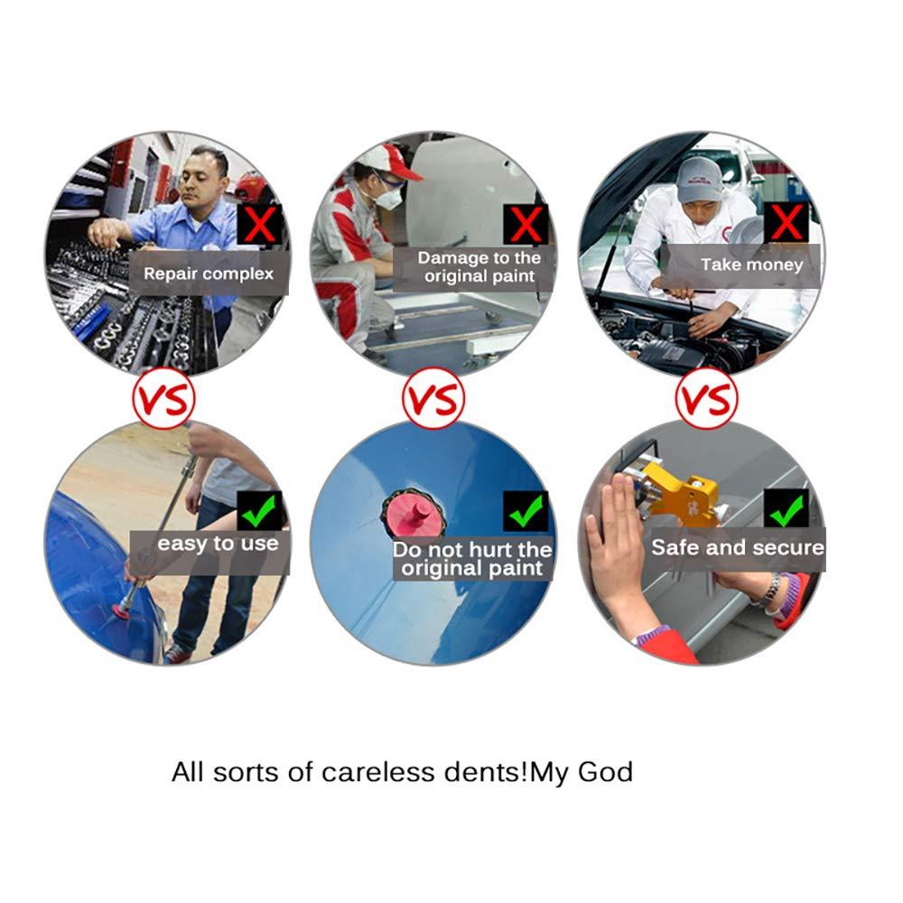 ABEDOE Kit di Attrezzi per la Riparazione di Ammaccature Senza Vernice per Auto Martello Scorrevole a T con Linguette per Estrattore di Colla 18 Pezzi Estrattore Automatico di Ammaccature