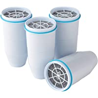 ZeroWater Replacement Water Filter Cartridges | 5 Stage Filtration System Reduces Fluoride, Chlorine, Lead and Chromium, 4 x Filter Bundle