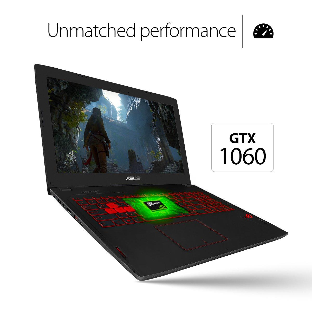 Asus ROG Strix 15,6 Pulgadas GSYNC VR Listo Core i7 2.6 GHz Delgado luz Gaming portátil [GL502VM] GeForce GTX 1060, DDR4 de 16GB, 256 GB SSD + 1TB HDD, ...