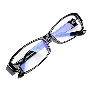 da339b4995 Anti Blue Ray Eyeglasses Computer Reading Glasses Eye Strain Protection    Amazon.co.uk  Clothing