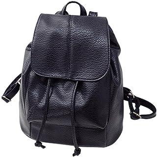 Susenstone Women Leather Satchel Shoulder Backpack School Rucksack Bags Travel