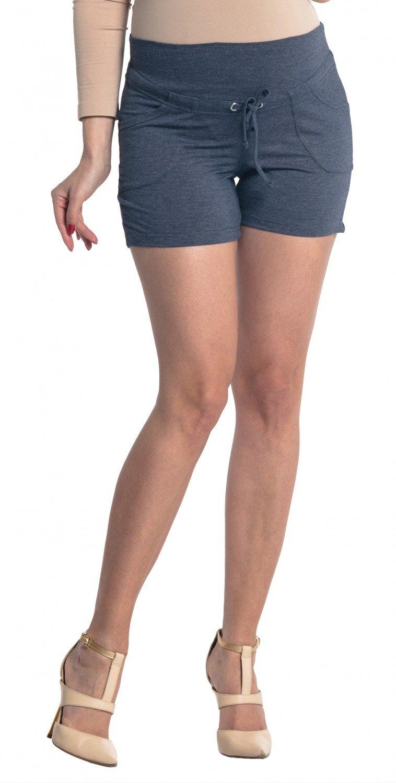 Zeta Ville - Pantalón cortos premamá banda elastica - bolsillos - mujer - 259c maternity_shorts_259