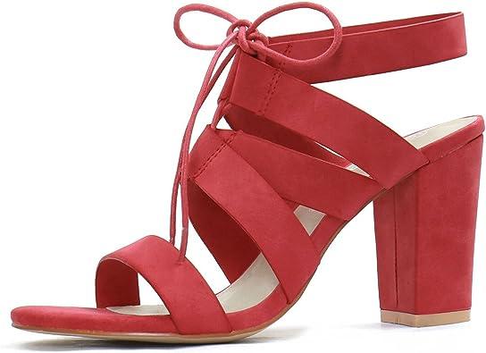 High Heels Cutout Lace Up Sandal