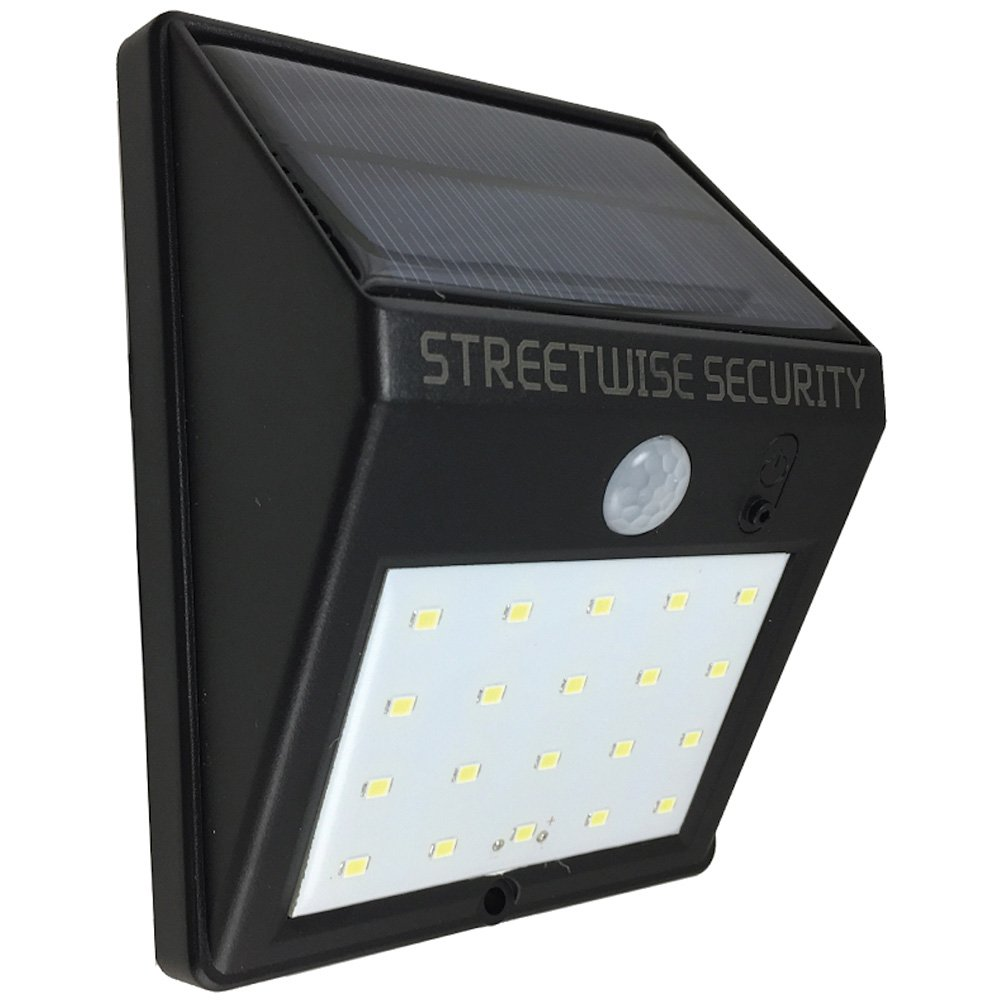Streetwise Security Products SWSZSL20 Safe Zone Solar Motion LED Light