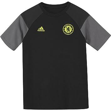 Adidas Chelsea tee Y Camiseta, Rojo/Amarillo (Negro/Granit / Amasol)